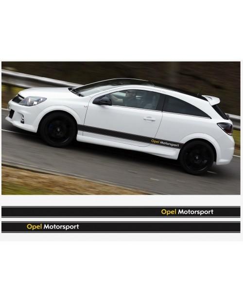 Aufkleber passend für Opel Motorsport Seitenaufkleber Aufkleber Streifen 2Stk. Satz 225cm Corsa Astra