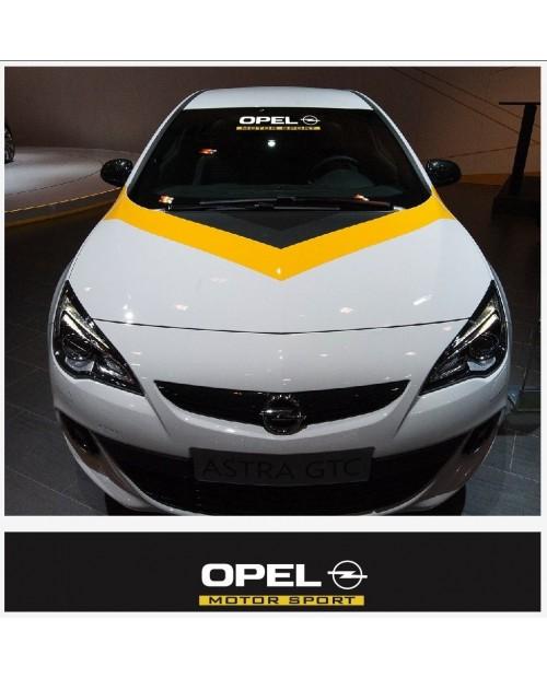Aufkleber passend für Opel Motorsport Frontscheiben Sonnenblendstreifen Aufkleber