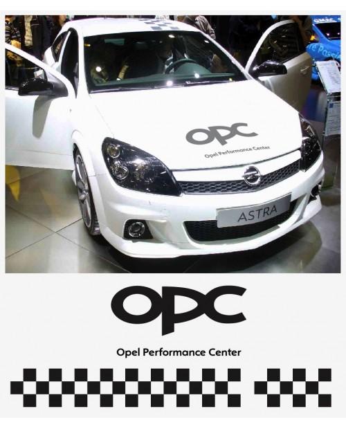 Aufkleber passend für Opel OPC Haubenaufkleber 55cm Dachaufkleber Streifen