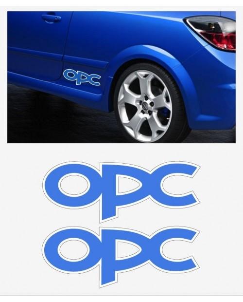 Aufkleber passend für Opel OPC Seitenaufkleber Aufkleber Satz 2 Stk. 30cm Astra Corsa Vectra Zafira
