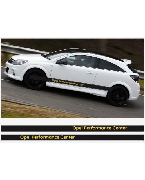 Aufkleber passend für Opel OPC Seitenaufkleber Aufkleber Streifen 2Stk. Satz 225cm Corsa Astra