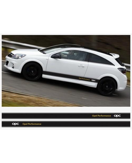 Aufkleber passend für Opel Performance OPC Seitenaufkleber Aufkleber Streifen 2Stk. Satz 225cm