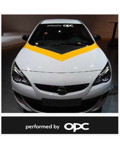 Aufkleber passend für Opel performed by OPC Frontscheiben Sonnenblendstreifen Aufkleber