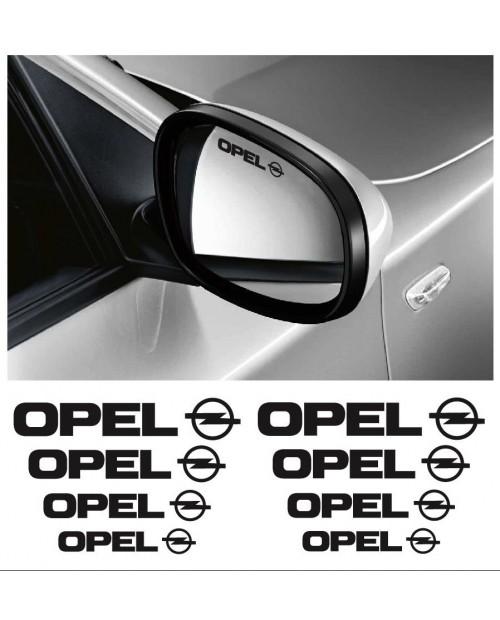 Aufkleber passend für Opel Felgen- Fenster- Bremssattel- Spiegel Aufkleber - 8 Stück im Set