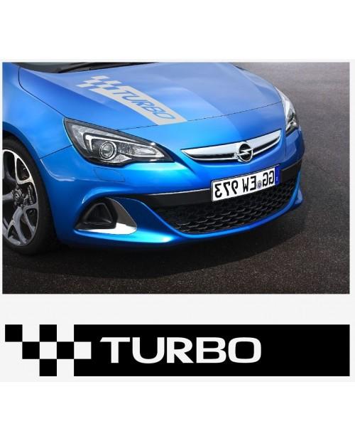 Aufkleber passend für Opel Turbo Motorhaube haube Aufkleber Astra Corsa Vectra Zafira A B C D E F G H