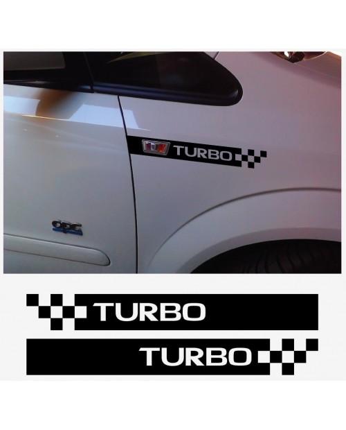 Aufkleber passend für Opel Turbo OPC Blende Seitenblinker Aufkleber Vectra Corsa Astra Zafira A B C D