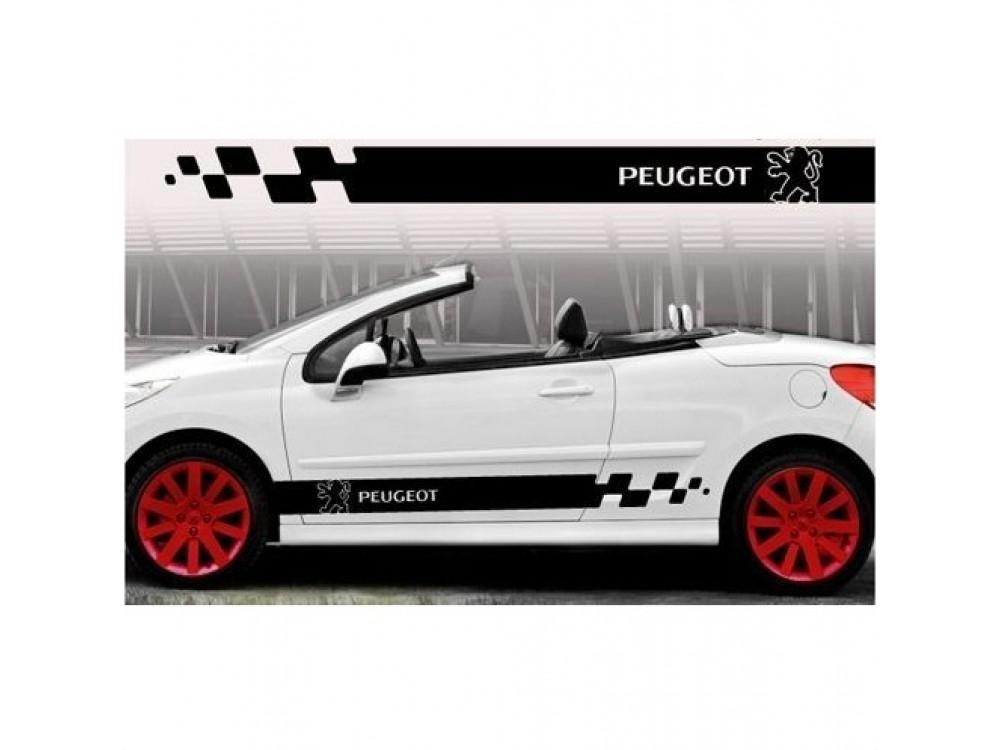 Aufkleber Passend Für Peugeot Seitenaufkleber Aufkleber 2