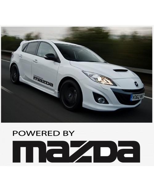 Aufkleber passend für Powered by Mazda Seitenaufkleber Aufkleber Satz 800mm