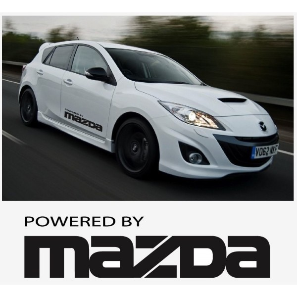 Decal to fit Powered by Mazda side decal set 800mm