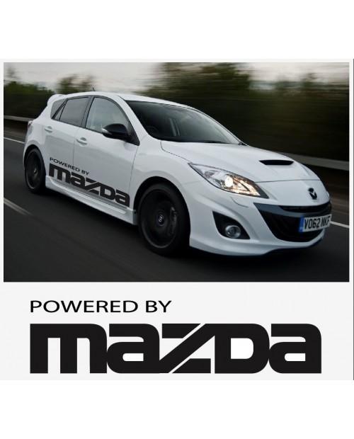 Aufkleber passend für Powered by Mazda Turbo sport racing Seitenaufkleber Aufkleber Satz 1400mm