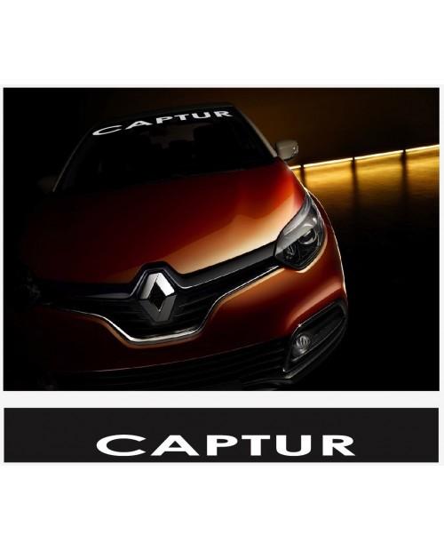 Aufkleber passend für Renault Capture Frontscheiben Sonnenblendstreifen Aufkleber