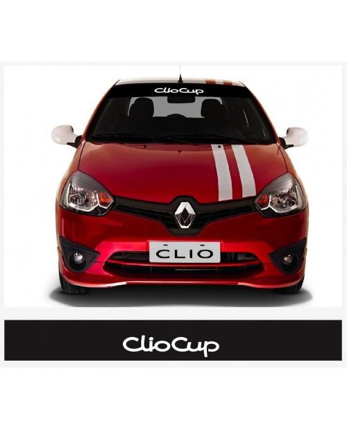 Aufkleber passend für Renault Clio Cup Frontscheiben Sonnenblendstreifen Aufkleber 950mm