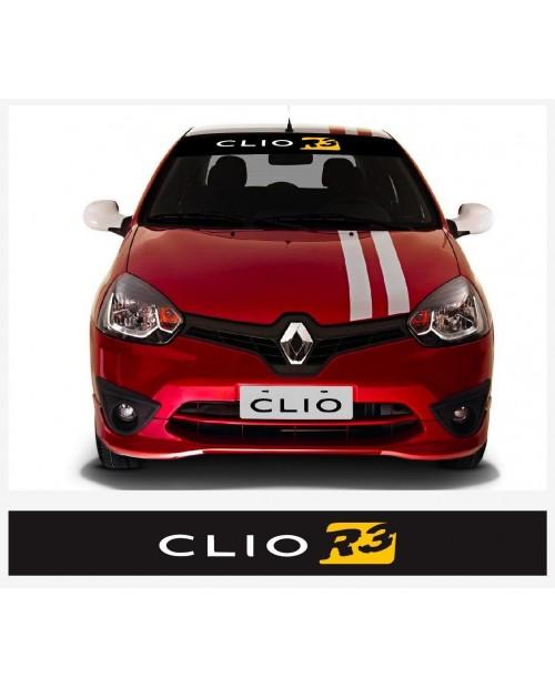 Aufkleber passend für Renault Clio R3 Frontscheiben Sonnenblendstreifen Aufkleber 950mm