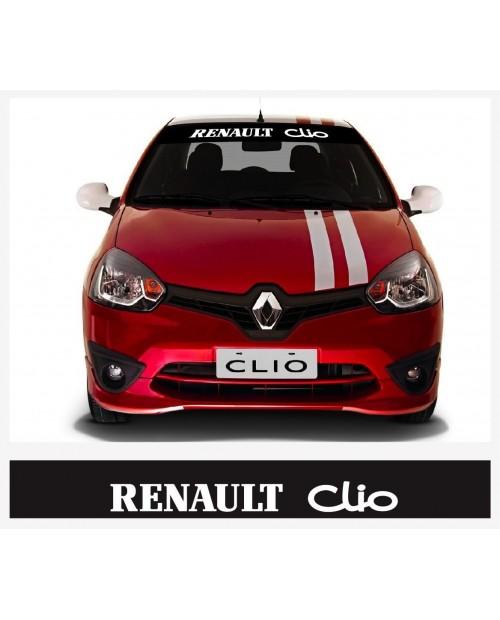 Aufkleber passend für Renault Clio Frontscheiben Sonnenblendstreifen Aufkleber 950mm