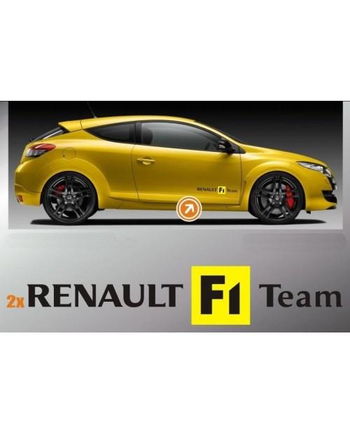 Aufkleber passend für Renault F1 Sport Seitenaufkleber Aufkleber Satz