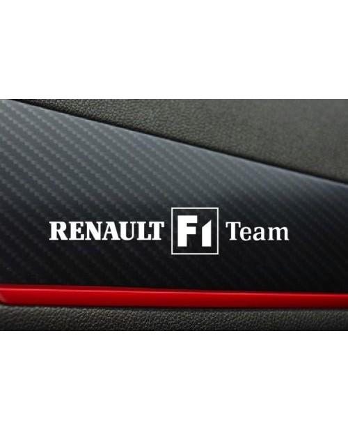 Aufkleber passend für Renault f1 team Aufkleber 2 Stk. 120mm