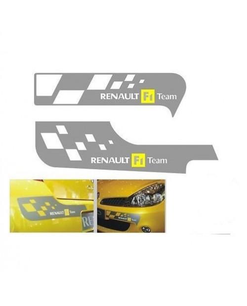 Aufkleber passend für Renault F1 Team Aufkleber Clio Sport Frontaufkleber + Heckaufkleber Satz