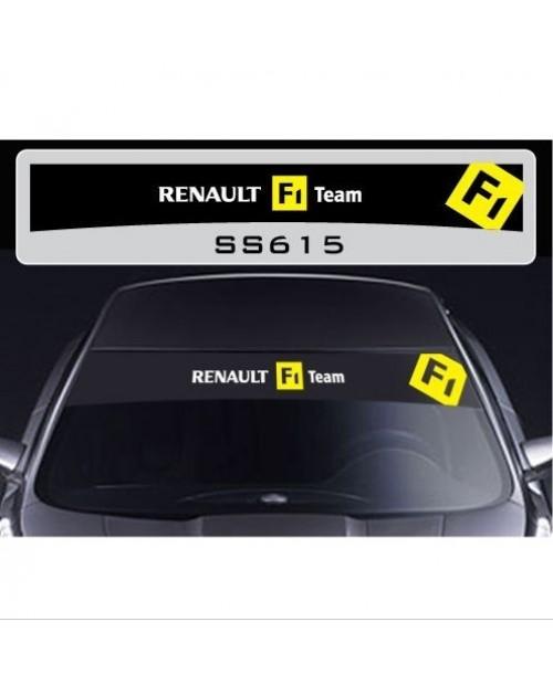 Aufkleber passend für Renault F1 Team Frontscheiben Sonnenblendstreifen Aufkleber