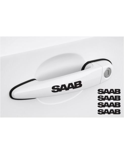 Aufkleber passend für SAAB Türgriff Aufkleber 4Stk, Satz 80mm