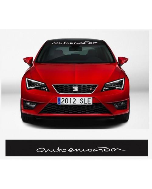 Aufkleber passend für SEAT Autoemocion Frontscheiben Sonnenblendstreifen Aufkleber 950mm Auto emocion