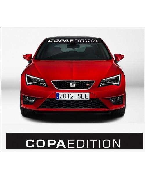 Aufkleber passend für SEAT Copa Edition Frontscheiben Sonnenblendstreifen Aufkleber 950 mm