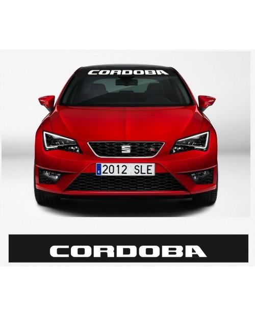 Aufkleber passend für SEAT Cordoba Frontscheiben Sonnenblendstreifen Aufkleber 950 mm