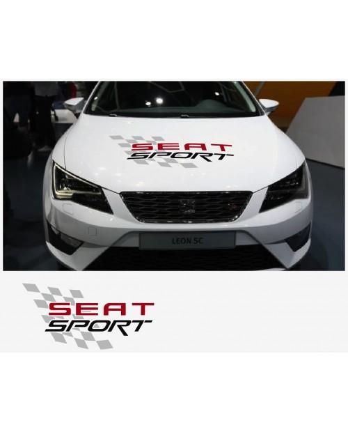 Aufkleber passend für Seat Sport Haubenaufkleber Aufkleber 64cm