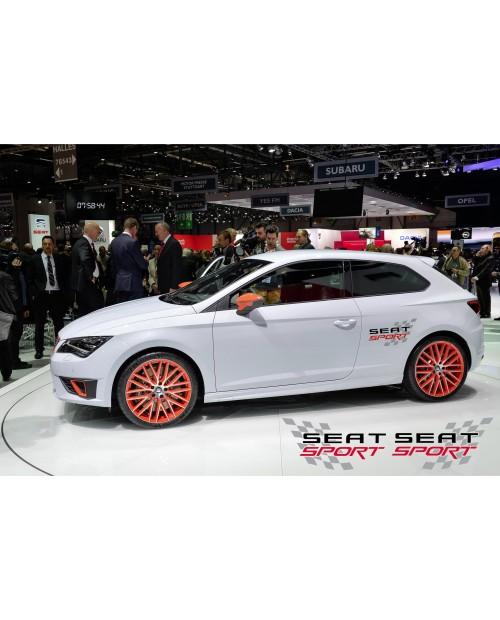 Aufkleber passend für Seat Sport Seitenaufkleber Satz 2Stk, 500mm