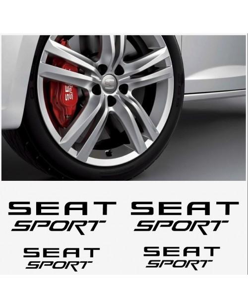 Aufkleber passend für Seat Sport Fenster- Bremssattel- Spiegel Aufkleber - 4 Stück im Set