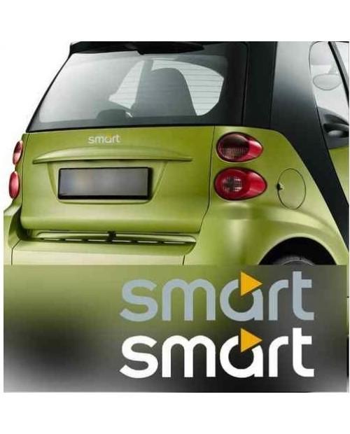 Aufkleber passend für Smart Schriftzug Aufkleber Emblem 2 Stk. Satz 80mm bis 200mm