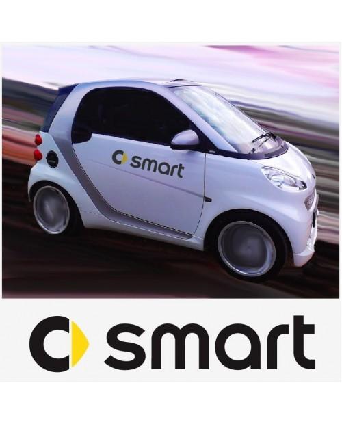 Aufkleber passend für Smart Logo Seitenaufkleber Aufkleber 2 Stk. Satz 50cm