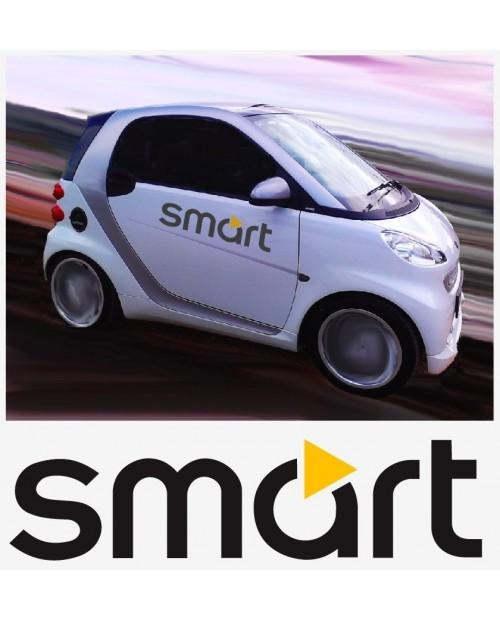 Aufkleber passend für Smart Logo Seitenaufkleber Aufkleber 2 Stk. Satz 70cm