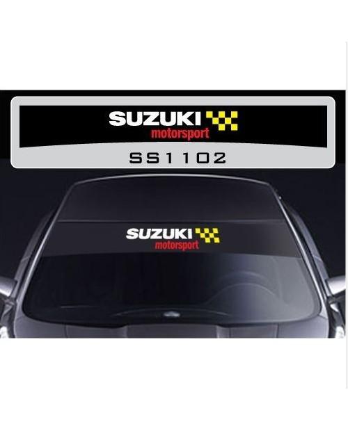 Aufkleber passend für Suzuki Motorsport Frontscheiben Sonnenblendstreifen Aufkleber