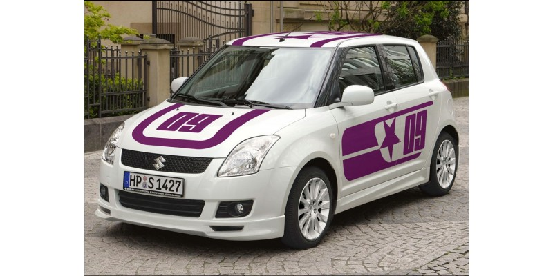 Decal to fit Suzuki Swift 09 roof- bonnet- side decal 4 pcs. set