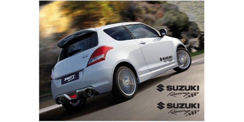 Decal to fit Suzuki Swift Racing side decal  2 Pcs. set 350mm