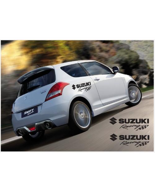 Aufkleber passend für Suzuki Swift Racing Seitenaufkleber Aufkleber 2Stk. Satz 500mm
