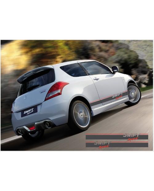 Aufkleber passend für Suzuki Swift Sport Seitenaufkleber Aufkleber 2Stk. Satz 1850mm