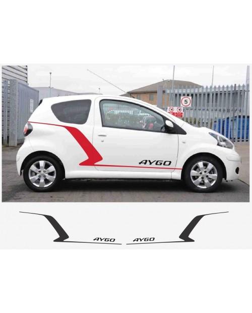 Aufkleber passend für Toyota Aygo Seitenaufkleber Aufkleber Satz
