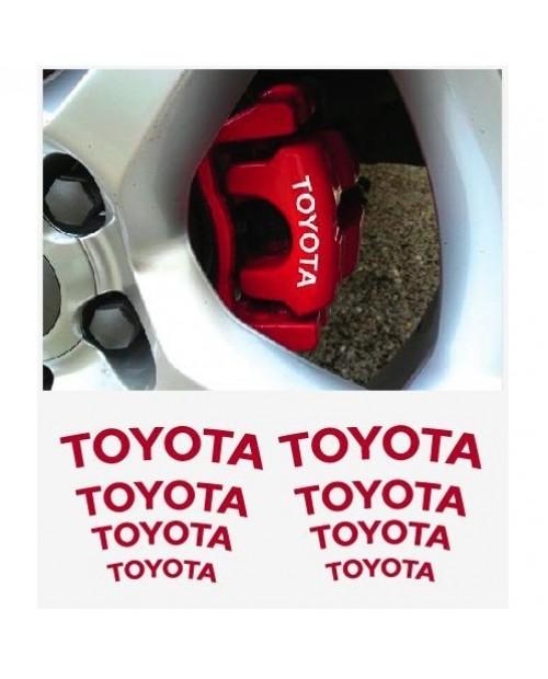 Aufkleber passend für Toyota Fenster- Bremssattel- Spiegel Aufkleber - 8 Stück im Set