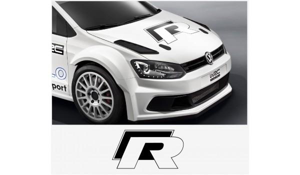 Aufkleber passend für VW Motorhaube R haube Aufkleber 50cm Golf Beetle Polo Passat Bora Lupo