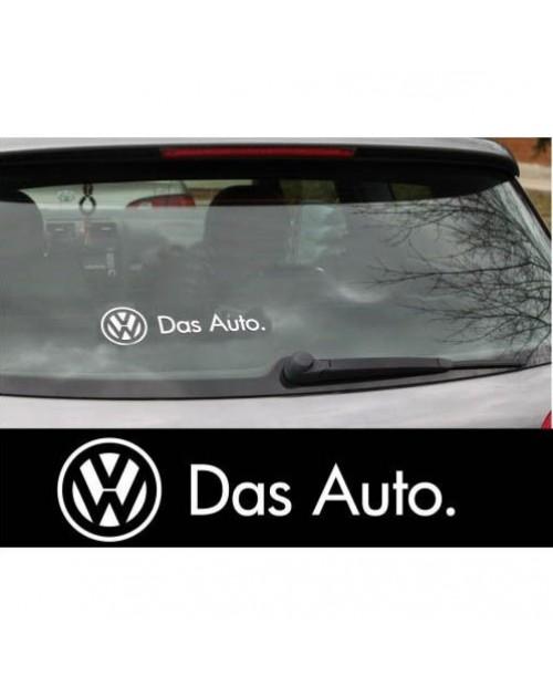 Aufkleber passend für VW Das Auto Heckaufkleber Seitenaufkleber Aufkleber x2 Polo Golf Passat Lupo