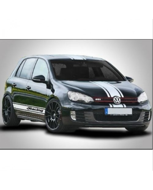 Aufkleber passend für VW Golf GTI R Rennstreifen Racing Stripes Aufkleber Satz