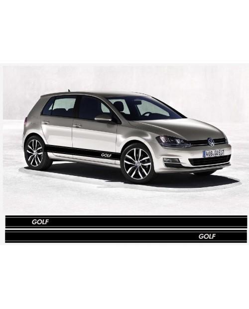 Aufkleber passend für VW Golf Seitenaufkleber Racing Stripes Aufkleber Satz