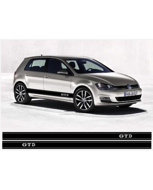 Aufkleber passend für VW GTD Seitenaufkleber Racing Stripes Aufkleber Satz Golf Passat Lupo Polo Jetta