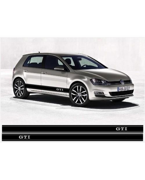 Aufkleber passend für VW GTI Seitenaufkleber Racing Stripes Aufkleber Satz Golf Passat Lupo Polo Jetta