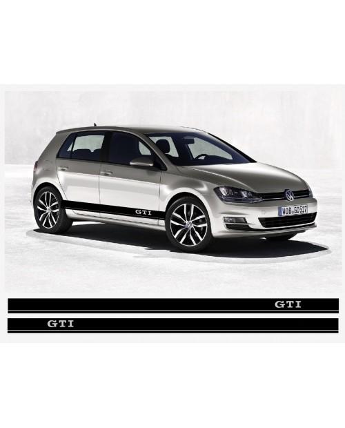 Aufkleber passend für VW GTI Seitenaufkleber Racing Stripes Aufkleber Satz