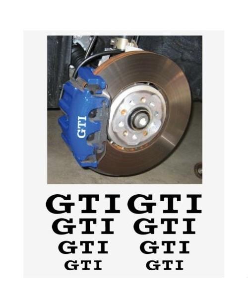 Aufkleber passend für VW GTI Fenster- Bremssattel- Spiegel Aufkleber - 8 Stück im Set