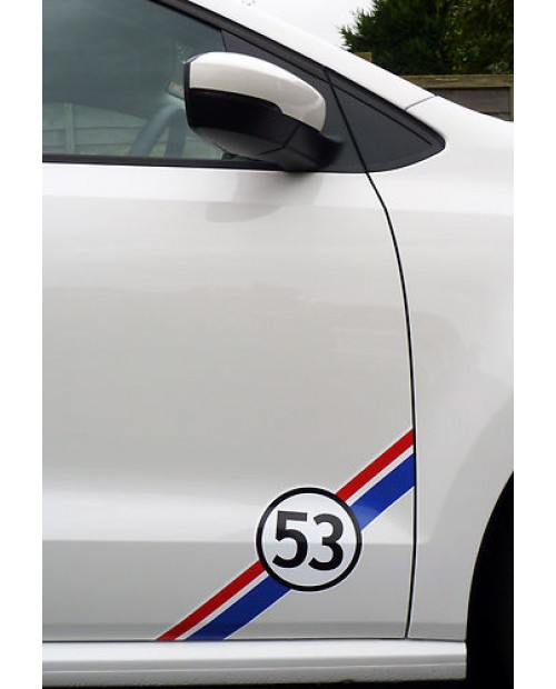 Aufkleber passend für VW HERBIE 53 Seitenaufkleber 2Stk. Satz