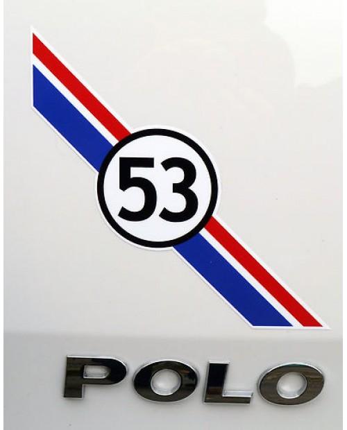 Aufkleber passend für VW HERBIE 53 Heckaufkleber