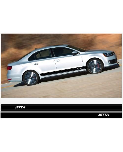 Aufkleber passend für VW Jetta Seitenaufkleber Racing Stripes Aufkleber Satz